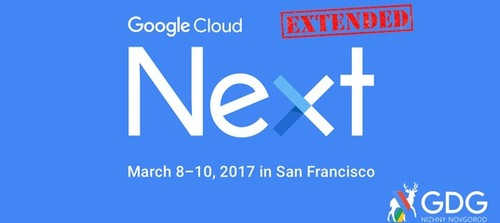 GDG NEXT'17 Extended
