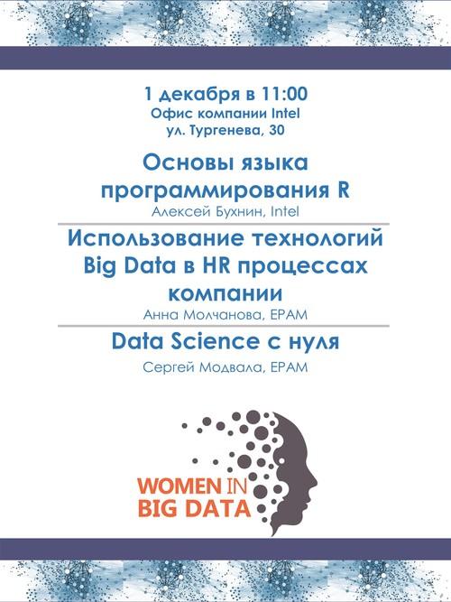 Women in Big Data: Мастер-класс «Основы языка программирования R» | Использование технологий Big Data в HR процессах компании